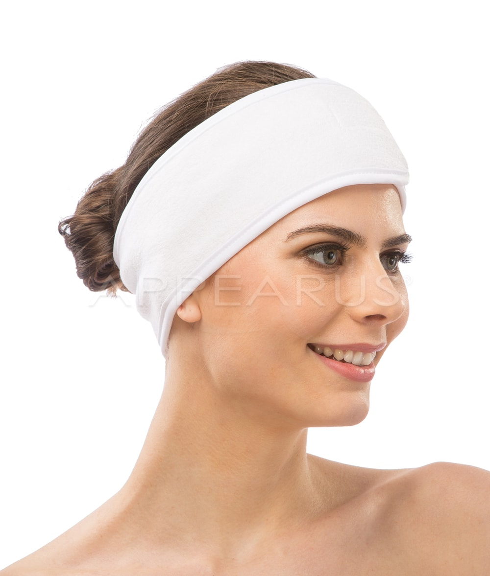 Stretchable Spa Headband / White