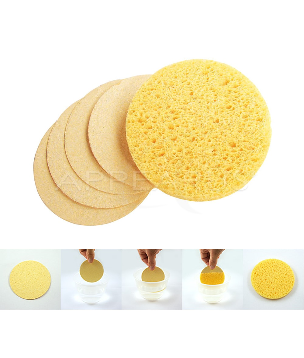 Natural Cellulose Facial Sponges | Appearus