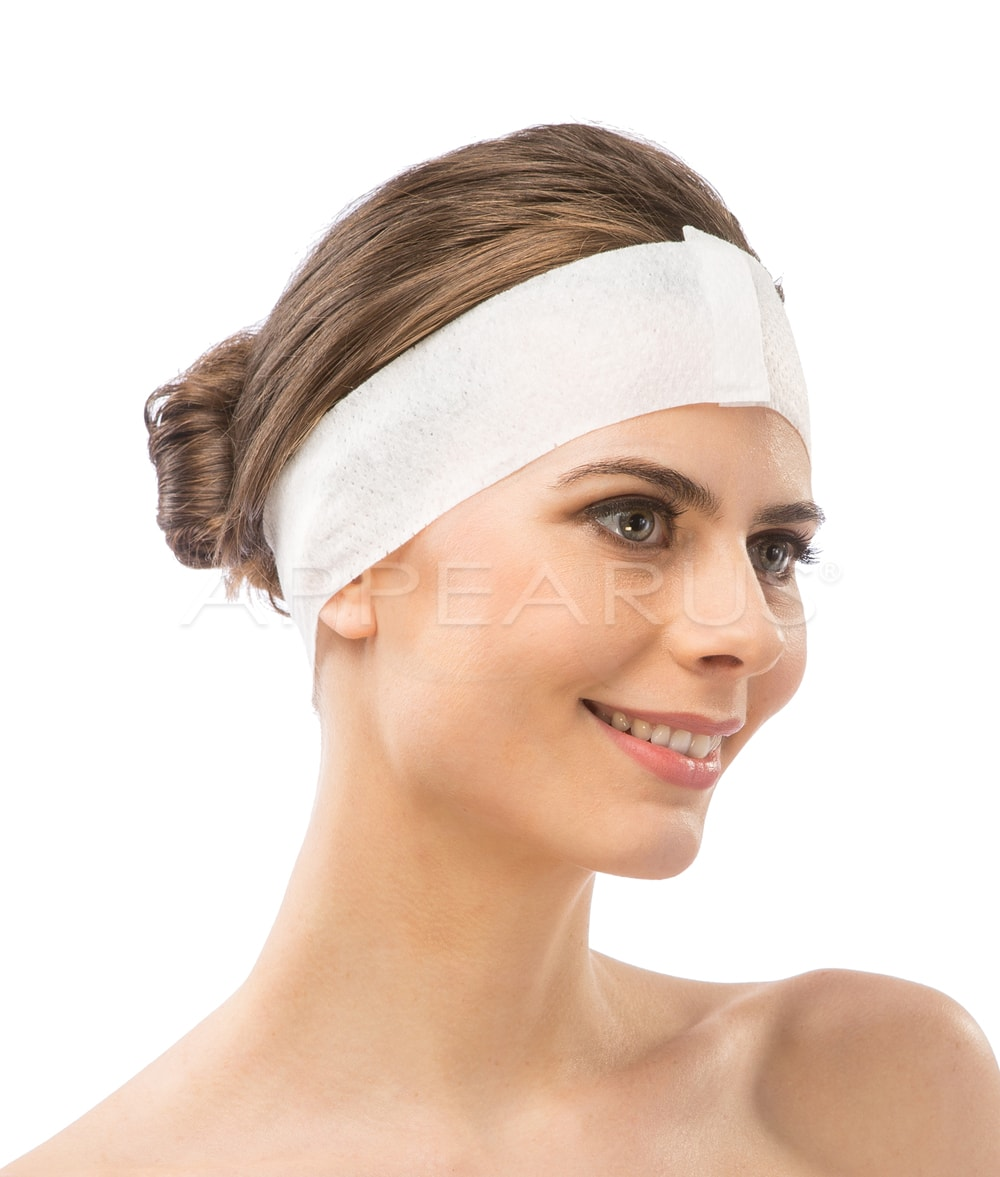 Disposable Velcro Headband / 100 Pack