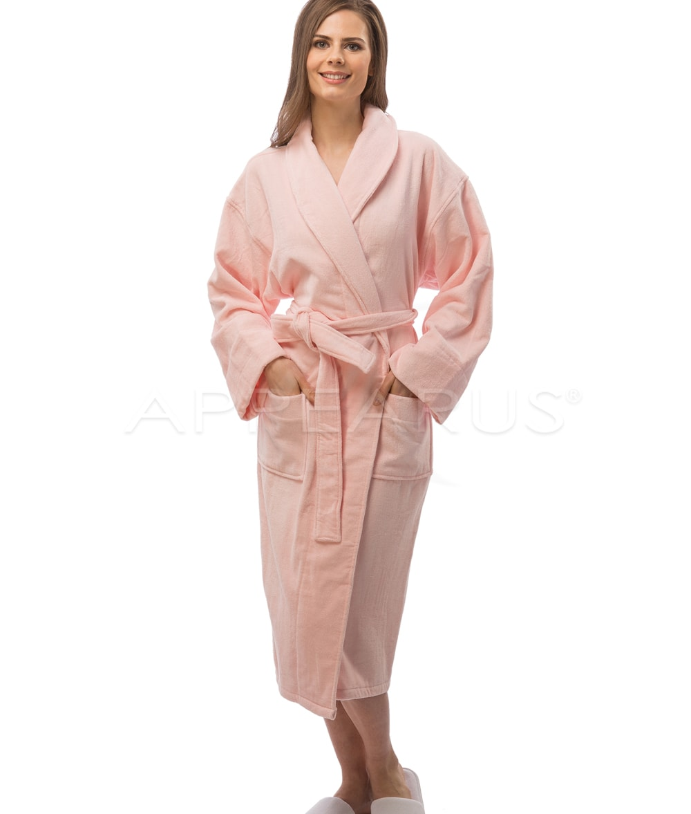 Plush Velour Spa Robe   Appearus