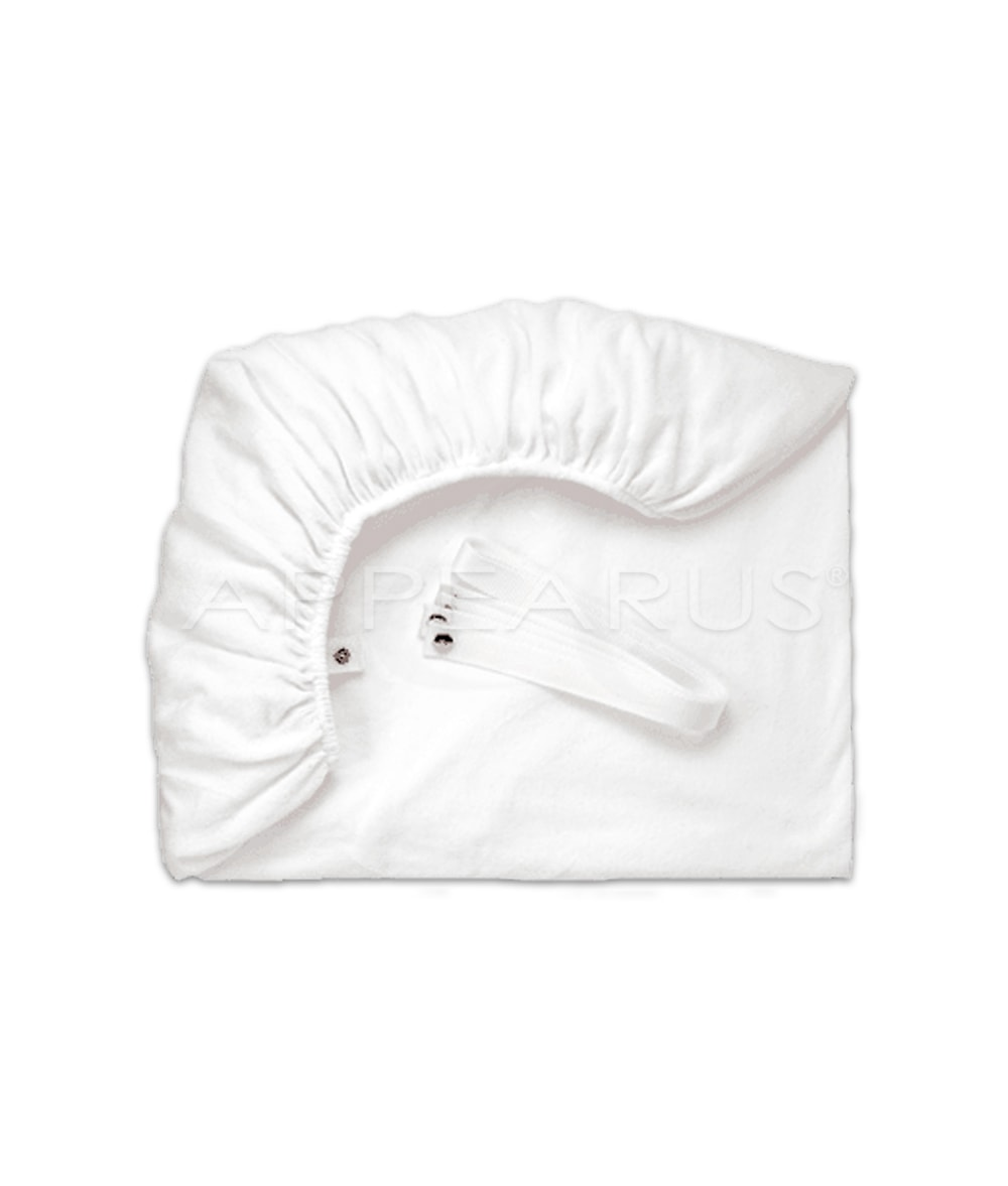 Stretch Terry Fitted Sheet with Straps | Appearus