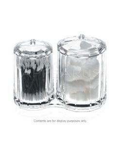 Acrylic Rounded Containers Organizer   Appearus